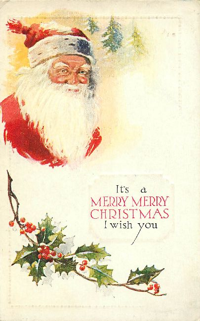 Christmas Postcard - It's a Merry Merry Christmas I wish you