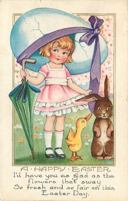 Easter Postcard - A Happy Easter