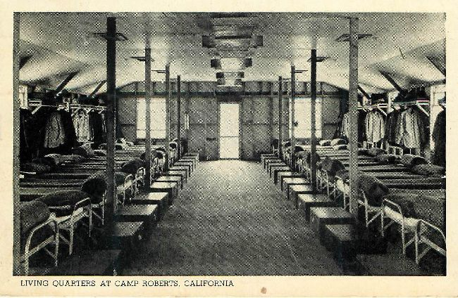 Living Quarters at Camp Roberts, California