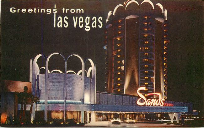 Greetings from las vegas - Sands Hotel Postcard