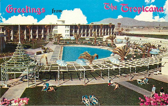 Greetings from The Tropicana Postcard