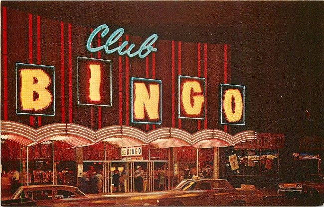 Club Bingo Las Vegas Nevada Postcard