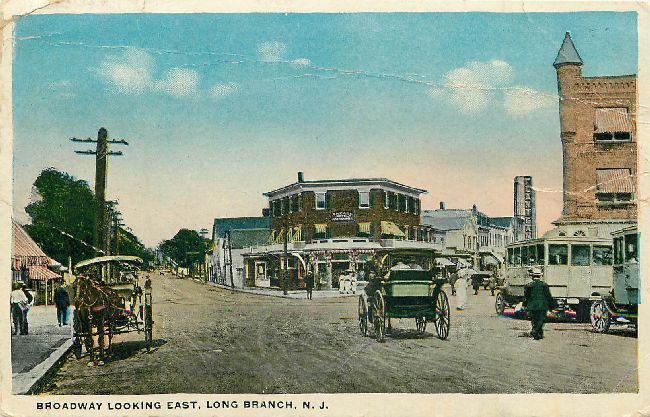 Broadway Looking East, Long Branch, N.J.