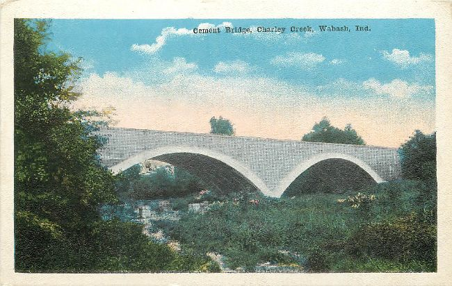 Cement Bridge, Charley Creek, Wabash, Ind.