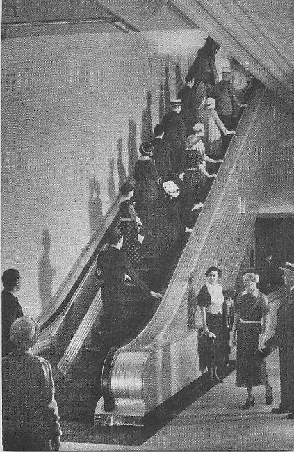 Marshall Field & Company, Chicago Escalator