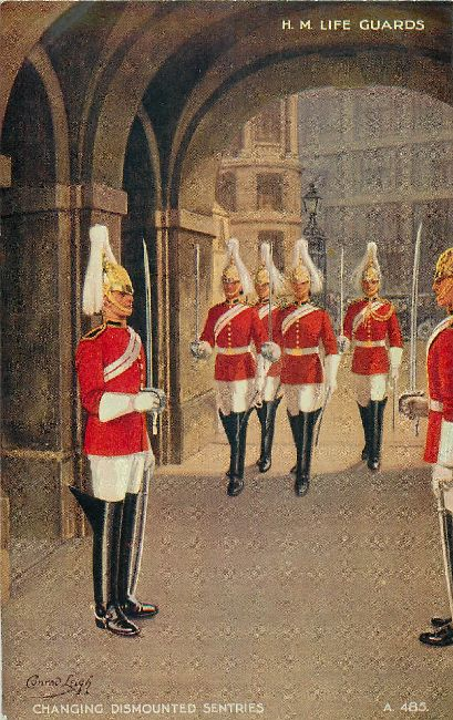 H. M. Life Guards - Signed by Conrad Leigh