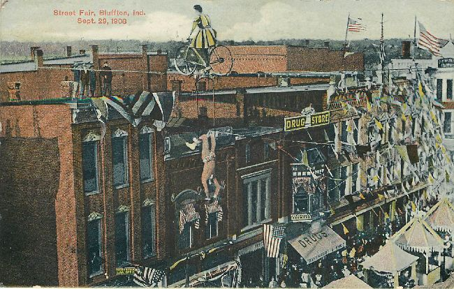 State Fair, Bluffton Indianna September 29, 1908 Postcard