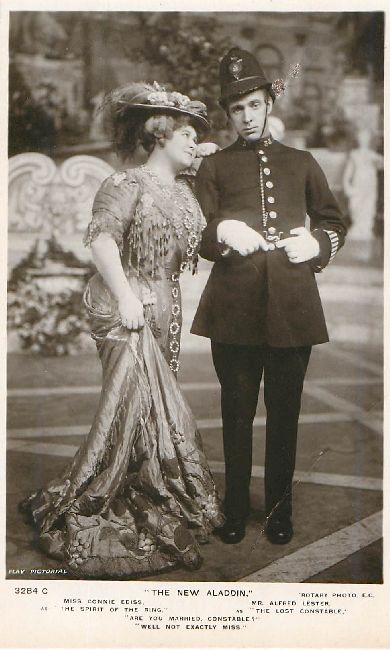Miss Connie Ediss & Mr. Alfred Lester Edwardian Postcard