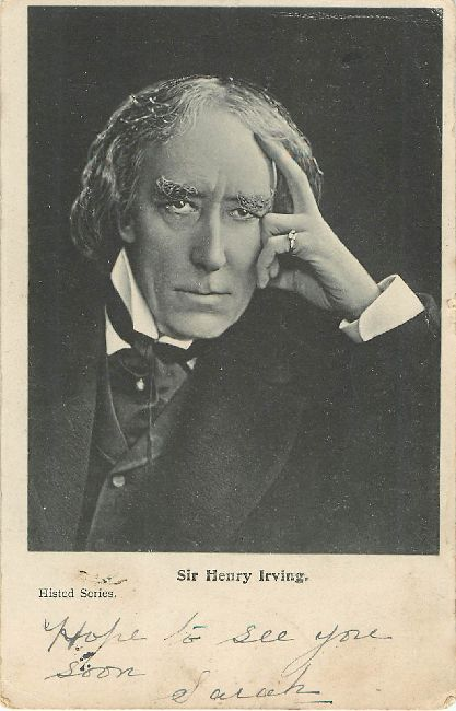 Sir Henry Irving Histed Series Postcard Postmarked in 1906