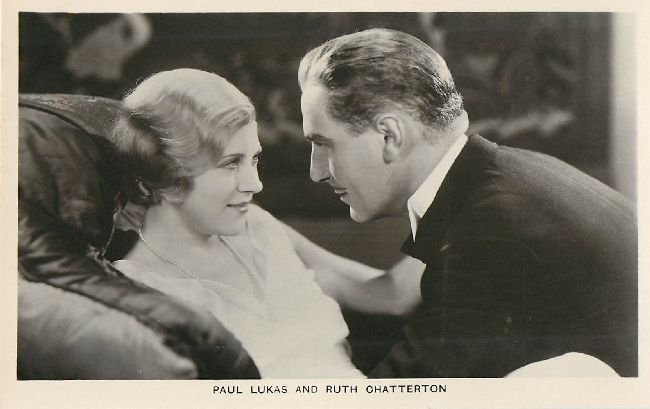 Paul Lukas and Ruth Chatterton Postcard