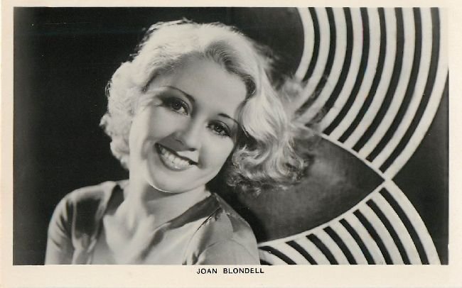 Joan Blondell Postcard