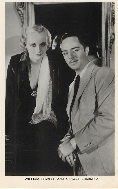 William Powell and Carole Lombard Postcard