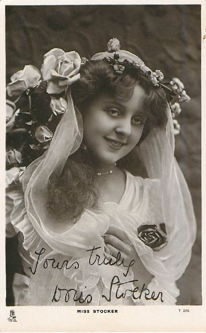 Miss Stocker - Signed Postcard