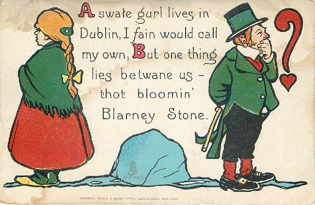 A swate gurl lives in Dublin...-St. Patrick's Day Postcard