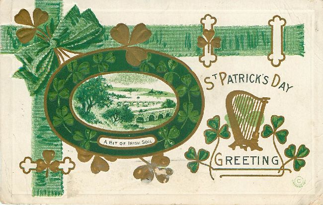 A Bit of Irish Soil - St. Patrick's Day Postcard