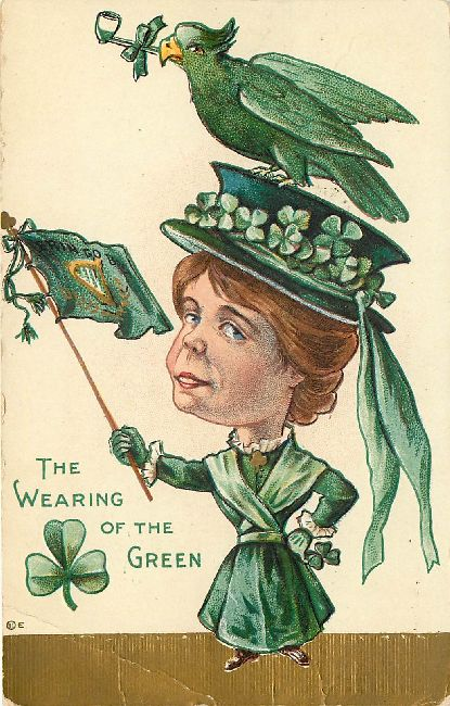 St. Patrick's Day Postcard - The Wearing of the Green