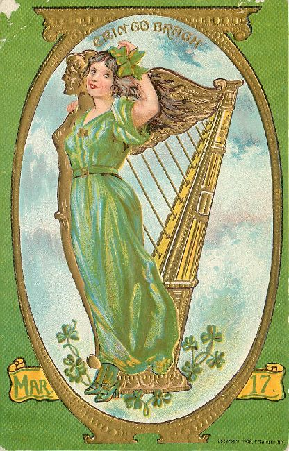 Erin Go Bragh-Mar. 17-St. Patrick's Day Postcard