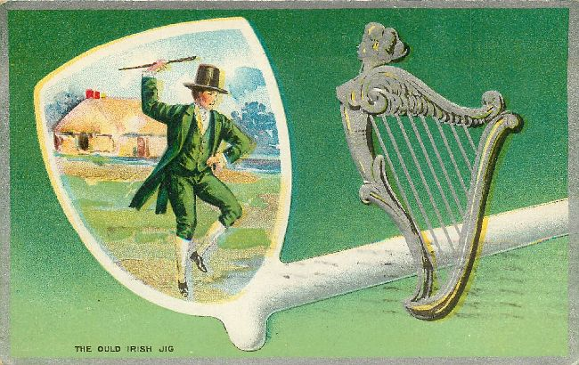 St. Patrick's Day Postcard-The Ould Irish Jig