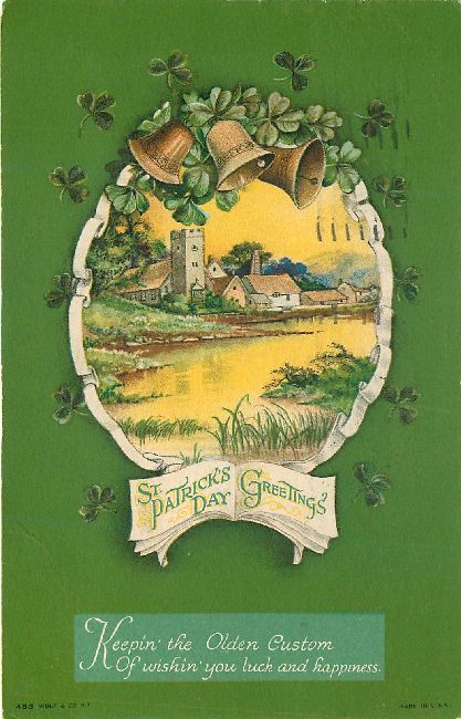 St. Patrick's Day Greetings Postcard-Keepin' the Olden Custom...