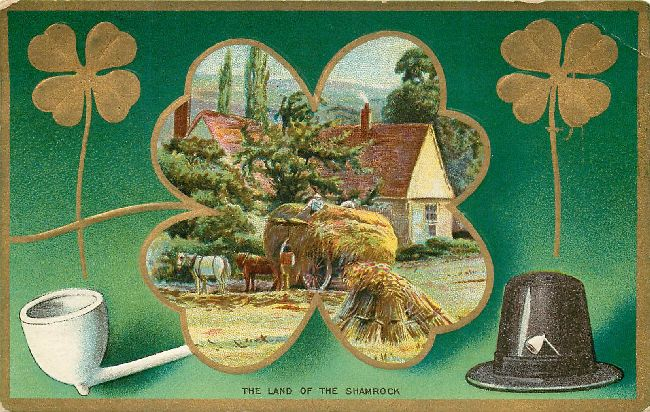 St. Patrick's Day Postcard-The Land of the Shamrock