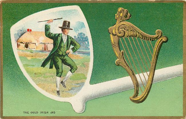 St. Patrick's Day Postcard - The Ould Irish Jig