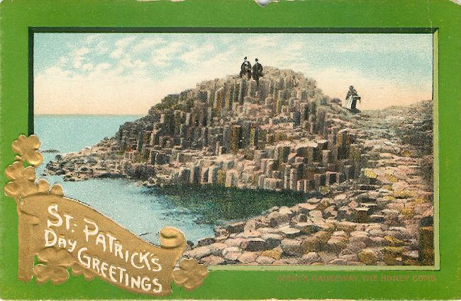 St. Patrick's Day Greetings Postcard-Giant's Causeway