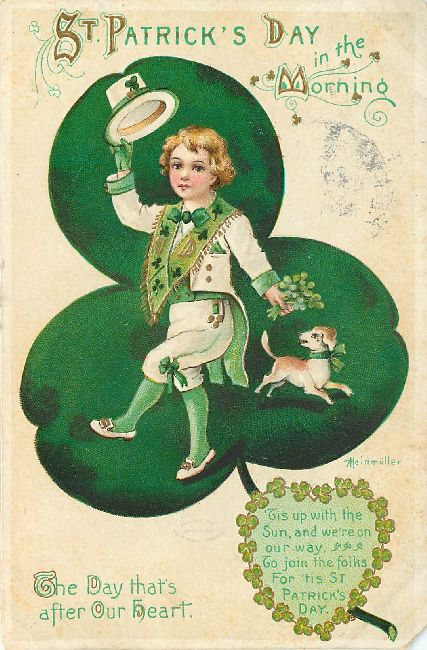 St. Patrick's Day Postcard-in the morning.