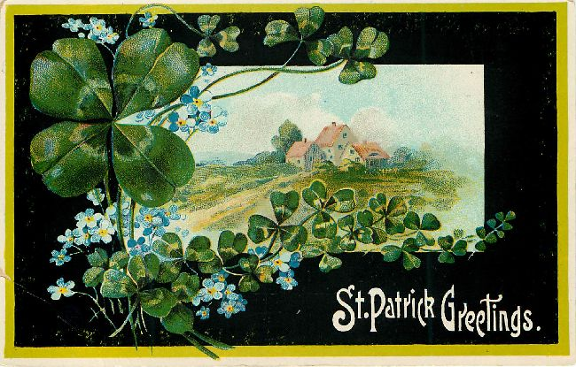 St. Patrick's Greetings Postcard
