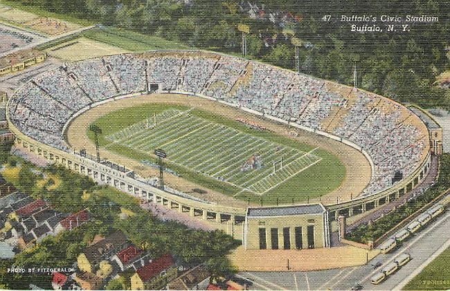 Buffalo's Civic Stadium Postcard, Buffalo, NY