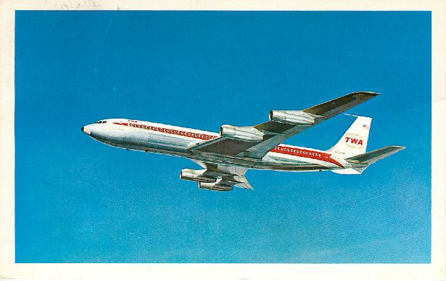 Trans World Airlines Postcard-The TWA Star Stream
