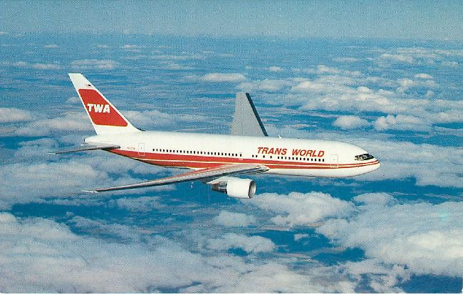 Trans World Airlines Postcard-Boeing 767
