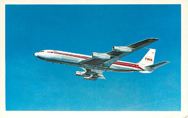 Trans World Airlines Postcard-The TWA StarStream
