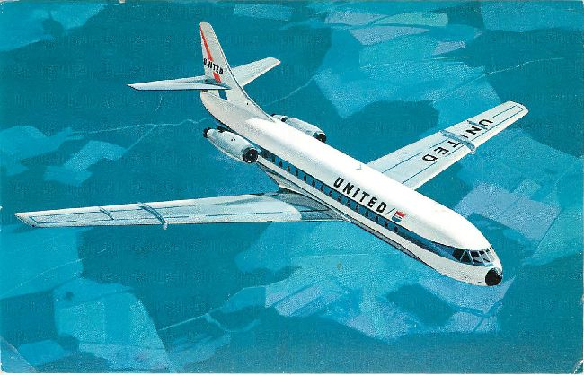 United Airlines Postcard-The Caravelle