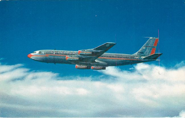 American Airlines Postcard-707