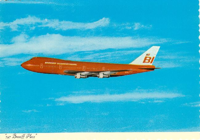 Braniff International Airline Braniff 747 Postcard