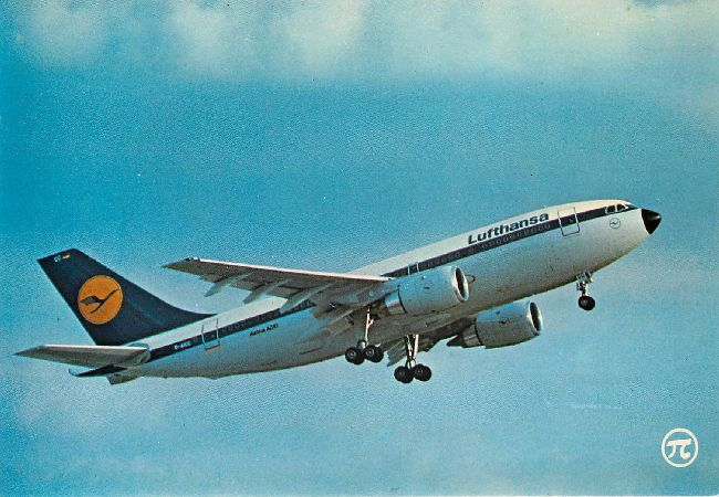 Lufthansa Airline Postcard Airbus A 310 212 Passengers