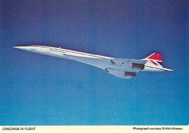 British Airways Concorde in Flight Postcard