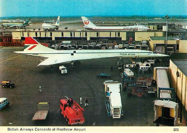 British Airways Concorde at Heathrow Airport Postcard