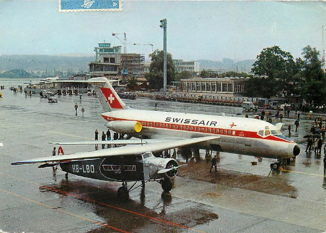 Swissair Airlines Postcard