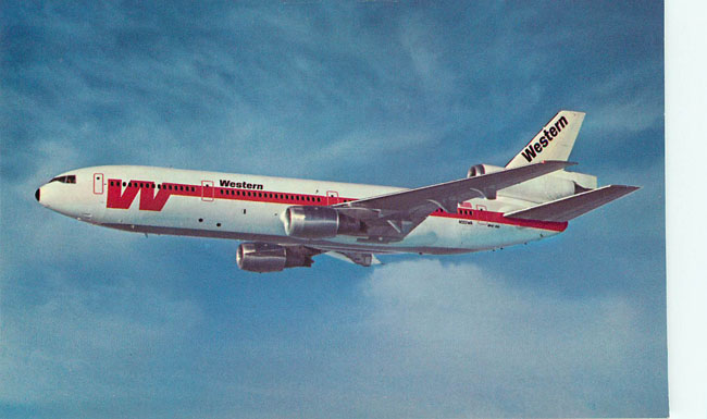Western Airlines Postcard The DC-10 Spaceship