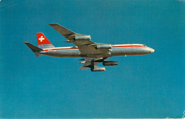 Swissair Airlines Convair 990 Coronado Postcard