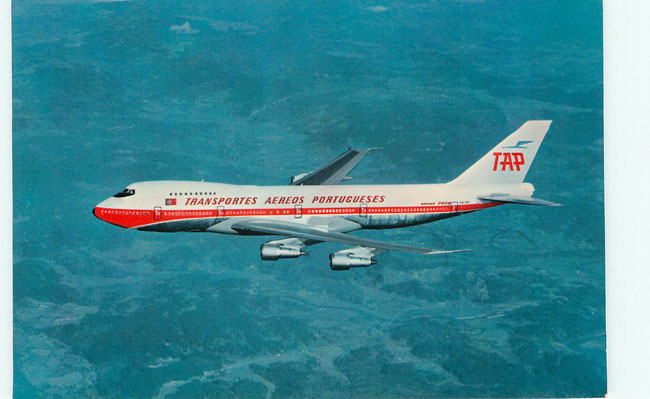 TAP Portuguese Airways Plane Postcard