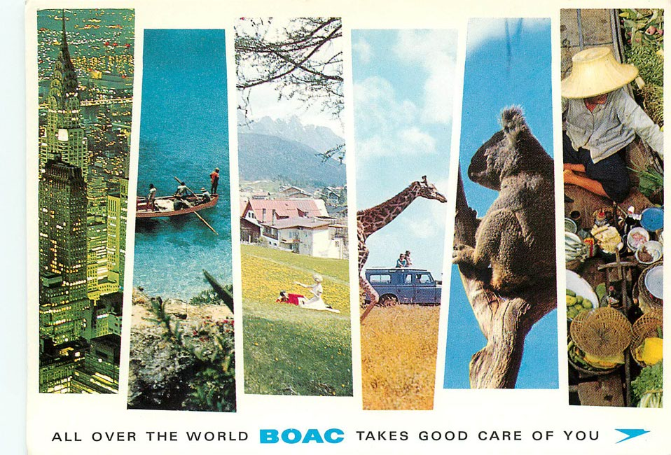 All over the world, BOAC takes good care of you Postcard