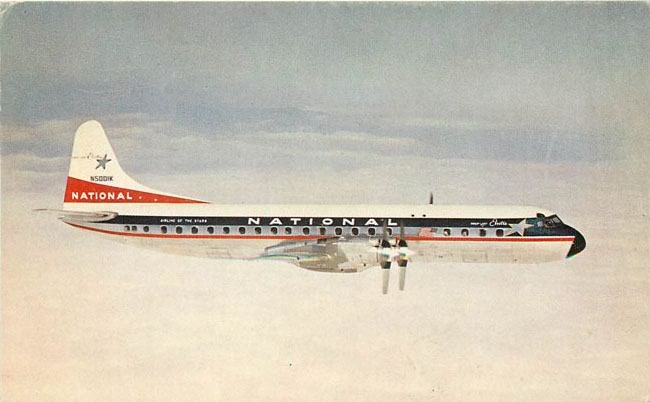 National Airlines - First with pure Jets in the USA Postcard