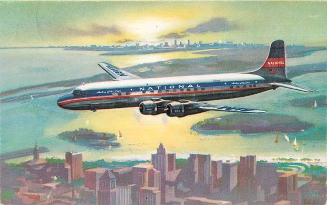 National Airlines Postcard The STAR of the Sky