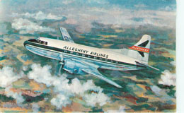 Allegheny Airlines Postcard PE-51 Plane