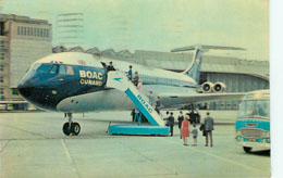 BOAC Airlines Postcard Postmarked 1968