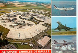 Aeroport Charles De Gualle Postcard Photo Collage