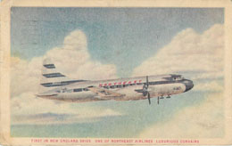 Northeast Airlines Postcard Luxurious Convairs
