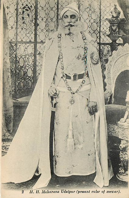 H.H. Maharana Udaipur Ruler of Meuar Royal Postcard